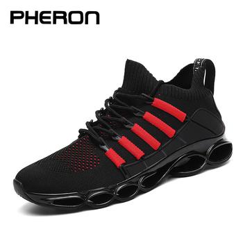 New Blade Shoes Fashion Breathable Sneaker Running Shoes 46 Large Size Comfortable Sports Men #8217 s Shoes 47 Jogging Casual Shoes 48 tanie i dobre opinie PHERON CN (pochodzenie) Odpowiedź poduszki Stabilność Hard court Początkujący Dla dorosłych Oddychające Buty do biegania