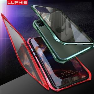 Image 3 - מקורי Luphie 360 מלא מגנטי מקרה עבור iPhone 11 פרו מקסימום 9 שעתי מזג זכוכית נייד טלפון כיסוי עבור iPhone 11 מקרי פרו