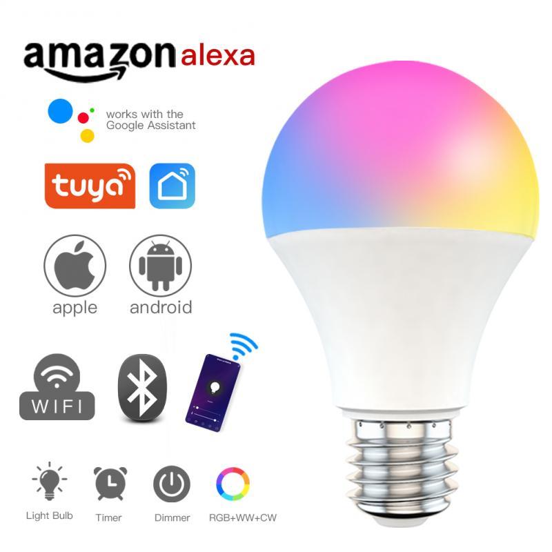 B22/E27 Smart Wifi Bulb Dimming Light Bulb 9W RGB Smart Light Bulb Voice Control work with Alexa Google Home tuya Smart Home