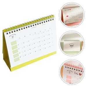 1pc Durable Slef-standing 2021 Planner Calendar for School Office