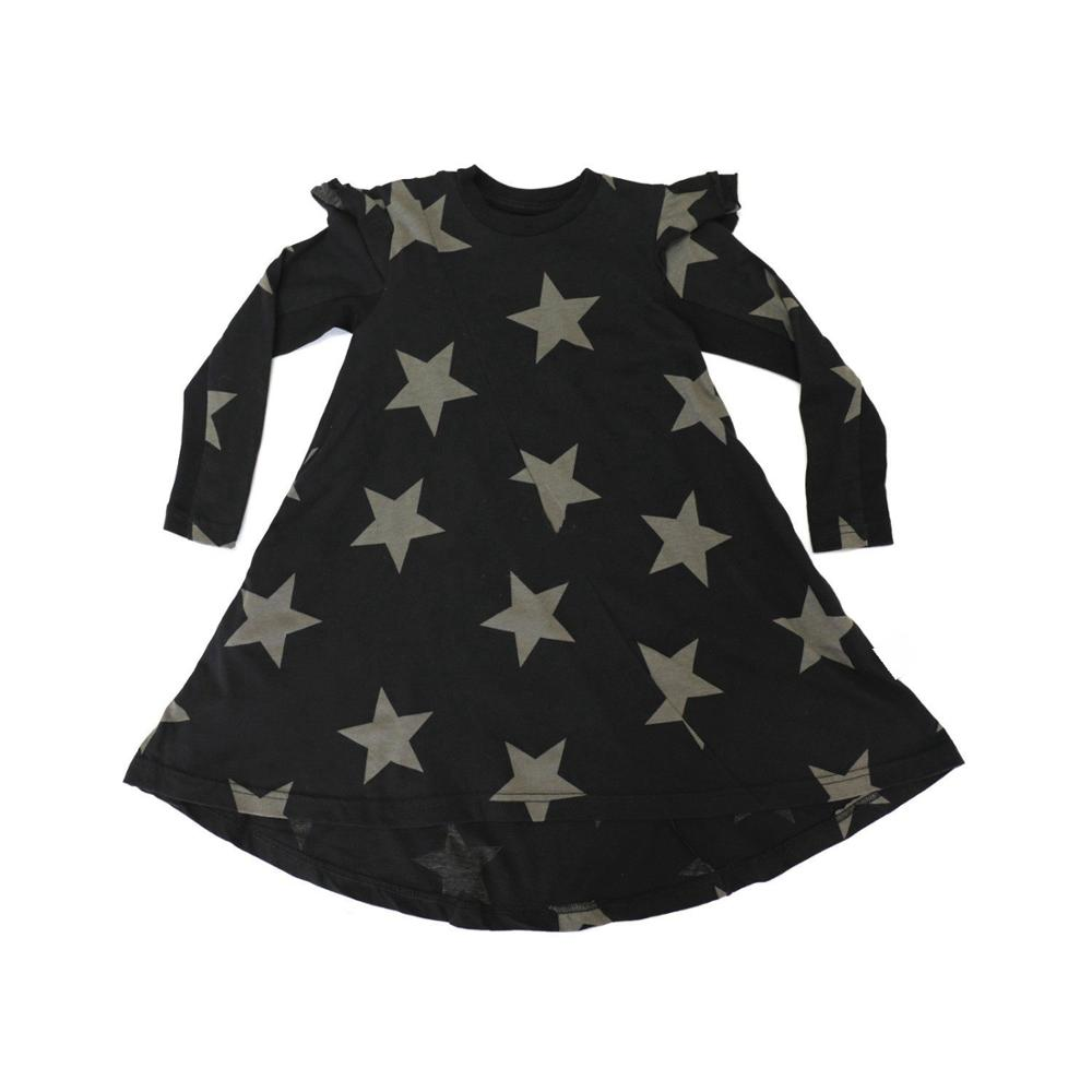 2019 Autumn New Arrival Kids Dresses for Girls Princess Dress Long sleeve Star Printed