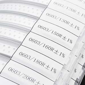 Image 5 - Kit surtido de resistencias de Chip SMD 8500, 170 Uds., 0603 valores, 1%, 0 10M, Kit de Muestra de resistencias de libros