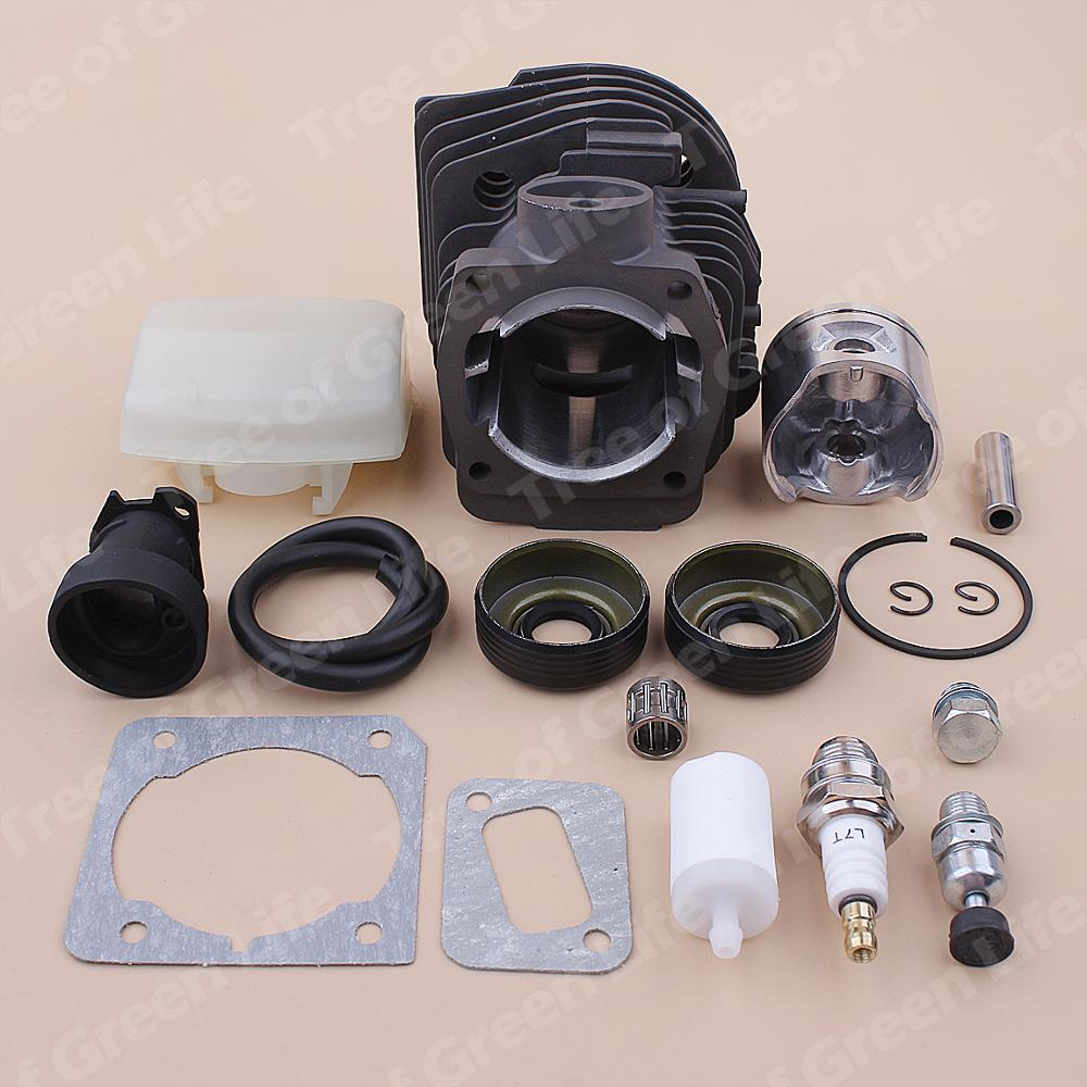 350 353 Filter 346XP Air Manifold Chainsaw Line Seal Oil Intake 44mm Fuel Cylinder Kit 503869971 351 Husqvarna For Piston
