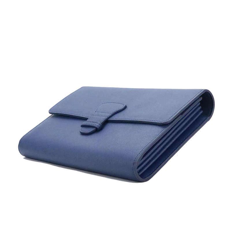 Monogramm saffiano leder reise sammlung geschenk reise set kits leder reisepass abdeckung reise tag lange reise brieftasche