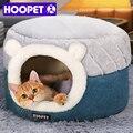 Мягкий плюшевый домик для кошек HOOPET, Лежанка для щенков, подушка для маленьких собак, кошек, гнездо, зимняя теплая Лежанка для домашних питом...