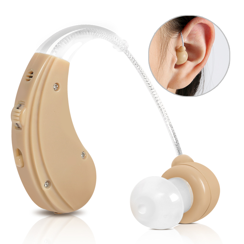 BTE Adjustable Hearing Aid Elderly Hearing Loss Ear Hearing aid earphones and external Sound Amplifiers