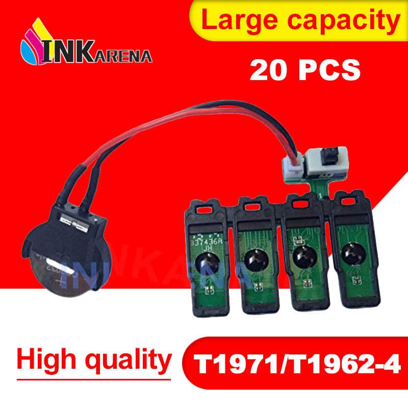 INKARENA 20pcs T1971 T1962-T1964 CISS 콤보 칩 엡손 XP201 XP211 XP204 XP401 XP411 XP214 XP101 WF-2532