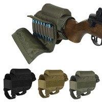 Ajustable táctica al aire libre culata Rifle bolsa para descansar mejillas bala titular de Nylon almohadilla vertical munición cartuchos bolsa