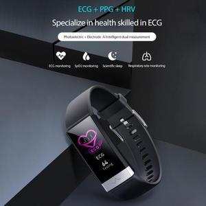 Image 3 - V19 akıllı bilezik ekg + PPG + HRV kalp hızı kan basıncı monitörü uyku spor izci akıllı bileklik Android için destek iOS