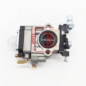 Carburador apto para cortador de escova motosserra cg430 cg260 cg330 cg520 motor 1e34f 1e36f grama trimmer carburador peças