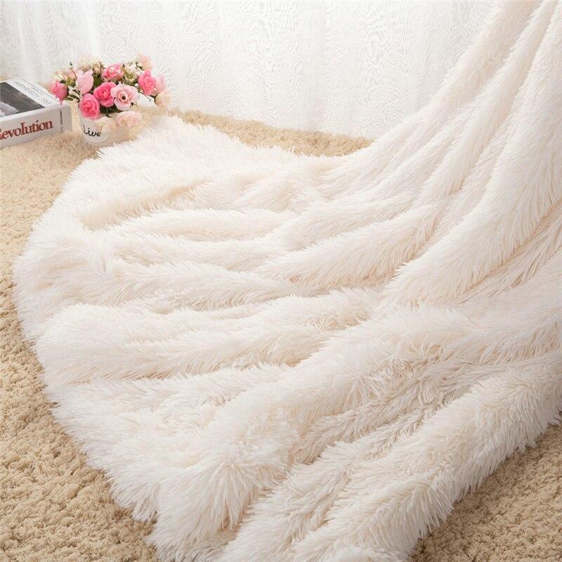 Luxury Long Shaggy Throw Plush Blanket Bedding 1