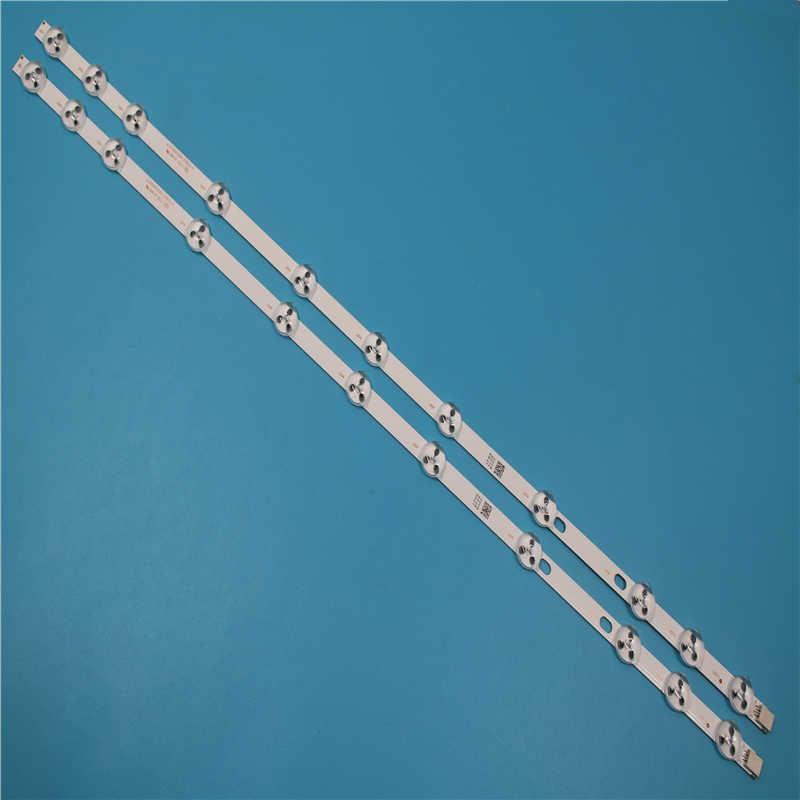 2 uds. x 32 pulgadas, repuesto de tira de LED para iluminación trasera para VESTEL 32D1334DB, VES315WNDL-01 VES315WNDS-2D-R02, 11 leds, 574mm