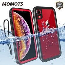 Momots caso à prova de choque à prova dwaterproof água para iphone 11 pro max x xr xs max 360 capa proteção completa natação mergulho caso