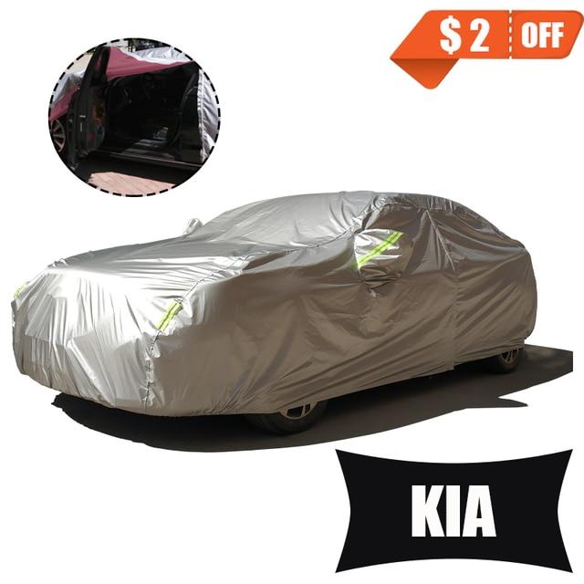 Full Car Covers For Car Accessories With Side Door Open Design Waterproof For Kia ceed rio sportage soul creato picanto sorento