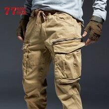 Pantalones casuales para hombres Algodón Cargo Jogger Pantalones