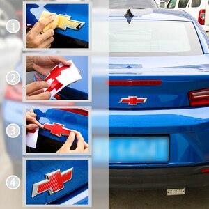 Image 5 - MOPAI Carbon Faser Aufkleber Auto Kühlergrill Hinteren Quer Aufkleber Emblem Abzeichen Aufkleber für Chevrolet Camaro 2017 Up Auto Zubehör