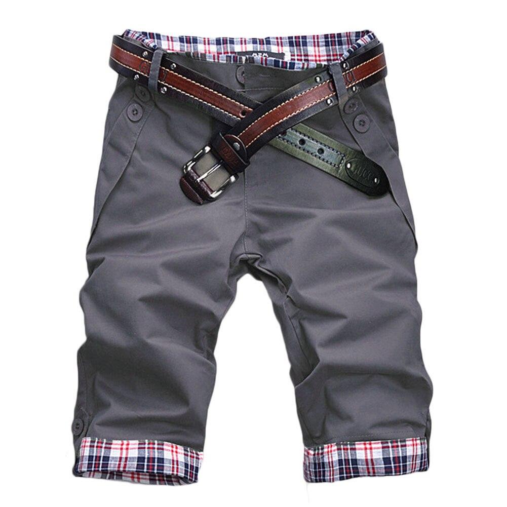 2020 New Mens Shorts Fitness Casual Short Pants High Quality Shorts Men's Pocket Sports Shorts Knee Length Vintage