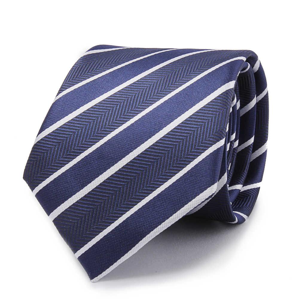 패션 넥타이 클래식 남성 넥타이 좁은 검은 넥타이 7.5 cm 남성 비즈니스 웨딩 넥타이 실크 남성 드레스 64 styless 넥타이