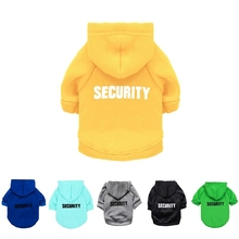 Security Dog Cat Clothes Pet Cat Coats Jacket Hoodies For Cats Dog Outfit Warm Pet Clothing