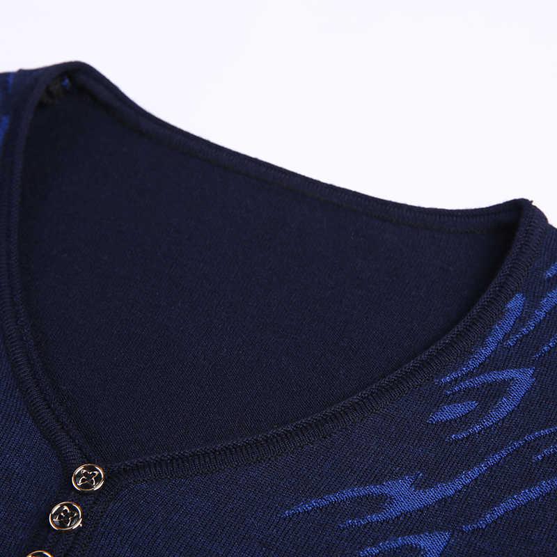 2020 새로운 패션 브랜드 스웨터 망 풀오버 V 목 슬림 맞는 점퍼 니트 패턴 가을 한국 스타일 캐주얼 남성 의류