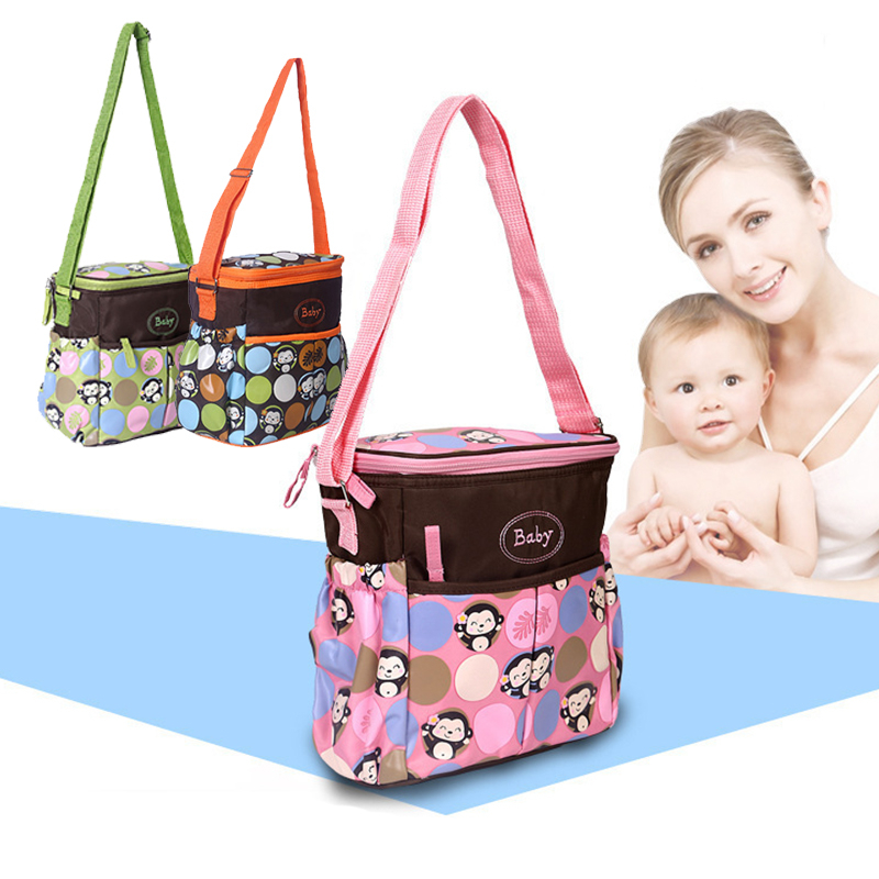 Portable Cartoon Mammy Bag Multi-Function Messenger Bags Maternity Nappy Printed Babies Bag Travel Picnic Mummy Baby Care