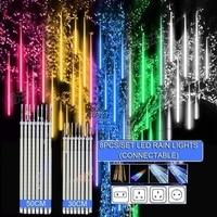 30cm 50cm 8 tubi impermeabile Meteor Shower Rain LED String Lights decorazione natalizia esterna per albero domestico EU/US/UK/AU