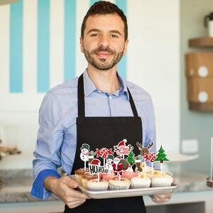 Image 3 - 72pcs Merry Christmas Cake Topper Cupcake Toppers Muffin Santa Claus Christmas Tree Snowman Cute Fruit Cake Picks Xmas Supplies
