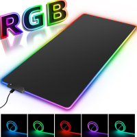 RGB gran juego Mousepad retroiluminado con LED alfombra de gran tamaño Mause alfombrilla de juego teclado ratón alfombrilla de juego r escritorio mat con los ratones de ordenador Mat