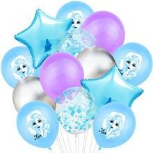 1 conjunto elsa disney congelado princesa helium balão do chá de fraldas decorações da festa de aniversário bonito dos desenhos animados figura do miúdo conjunto de balão de látex