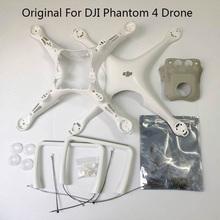 Oryginalny Brand New DJI Phantom 4 Body Shell zestaw do lądowania górna dolna pokrywa na światła zestaw śrub do części naprawa dronów P4 tanie tanio Rivertown CN (pochodzenie) Original DJI Size Nadwozie For DJI phantom 4 Original and brand new