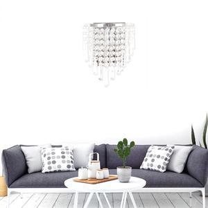 Image 3 - מודרני קריסטל מנורת קיר כרום פמוט קיר אור רחצה סלון בית מקורה תאורת קישוט הנורה לא כלול
