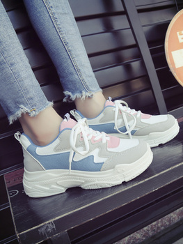 Sneaker Women 2019 New Fashion Breathable Shoes Woman Comfortable Color Matching Women Shoes Sewing Thread Durable Ladies Shoes