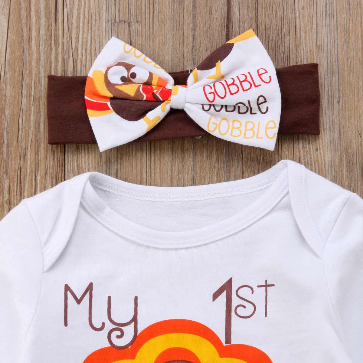 Noworodka Baby Boy dziewczyna jesień wzór z długim rękawem Romper topy kurczaka druku długie spodnie z pałąkiem na głowę kapelusz stroje ubrania zestaw