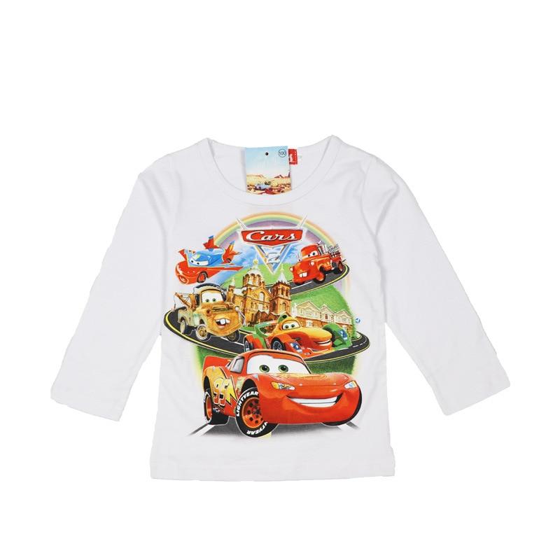 KID'S T-shirt Long Sleeve 2019 Chris New Style BOY'S 100% Cotton Coat Base Shirt Car General Mobilization Lightning McQueen