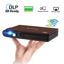 Caiwei S6W Portable Pocket Mini 3D DLP Projector LED Home Cinema Support HD Vide