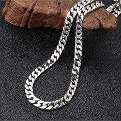 2019 Новый 100% реальные 925 стерлингового серебра ювелирные изделия ожерелье для Для мужчин тайское серебро ожерелье для Для женщин толщиной 8 м...