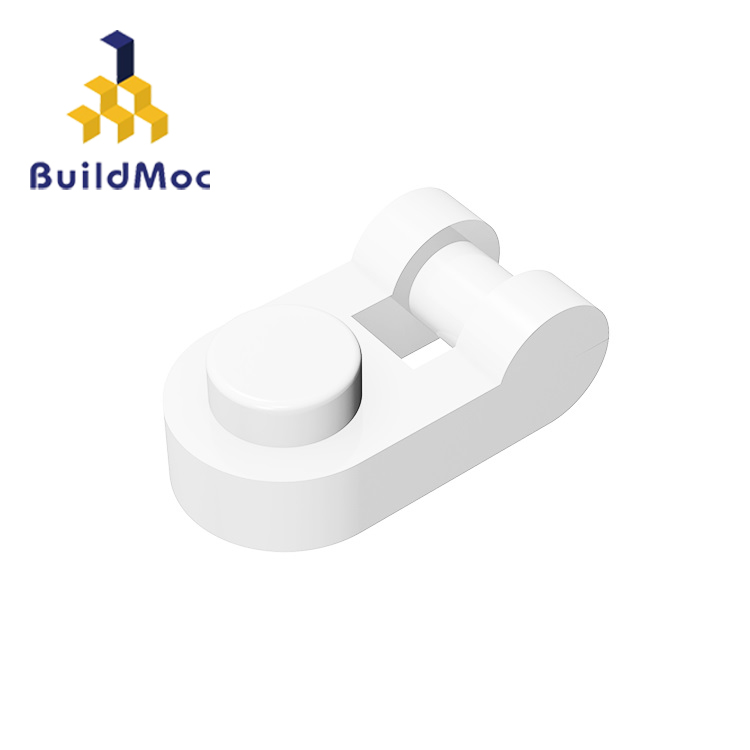 BuildMOC Compatible Assembles Particles 26047 Plate Modified 1x1 Rounded With Handle Building Blocks Parts Educational Gift Toys