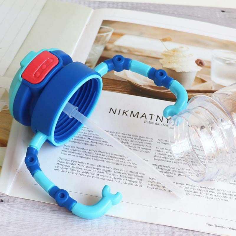 ילד מים בקבוק תינוק מעוניין בריא חומר פלסטיק קומקום Leakproof נייד חלב קומקום תלמיד רובוט קש בקבוק מים