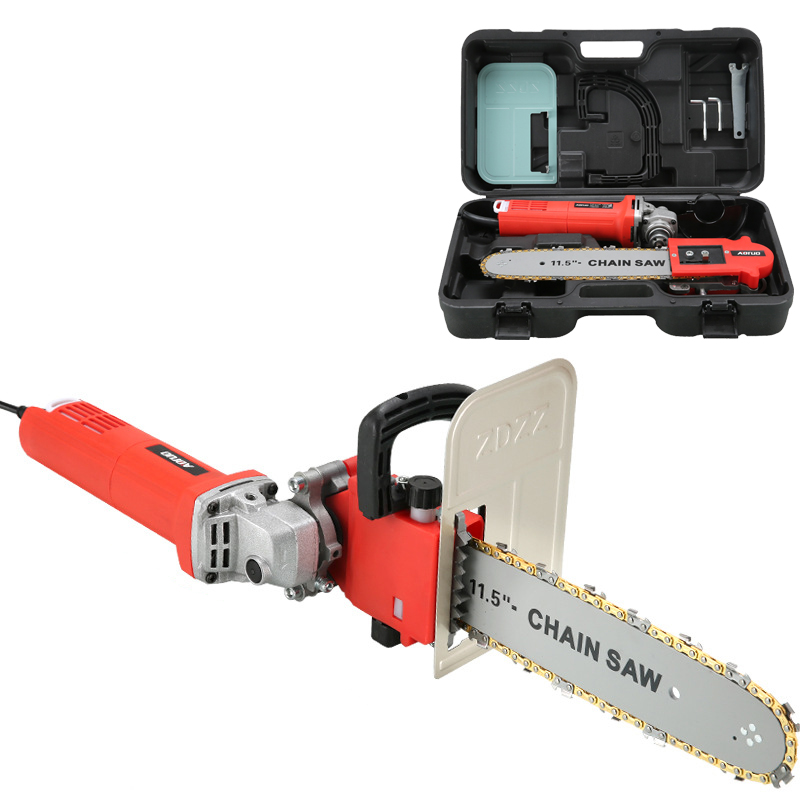 Electric Saw Parts Integrated Electric Chain Saw 11.5 Inch M10/M14/M16 Chainsaw Bracket Changed 100 125 150 Angle Grinder Into C