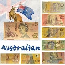 WR 5,10,20,50,100, австралийский доллар, поддельные деньги, золотые банкноты, бумажные деньги, купюр, банкноты для оригинальных подарков, Прямая пос...