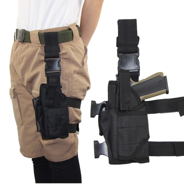Drop Left/Right Leg Gun Holster gun bag for GLOCK 17/M9/P226/CZ 75 Revolver Leg Adjustable Airsoft Pistol Gun Case For Hunting 2