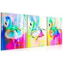 Красочные абстрактные Фламинго настенные художественные плакаты