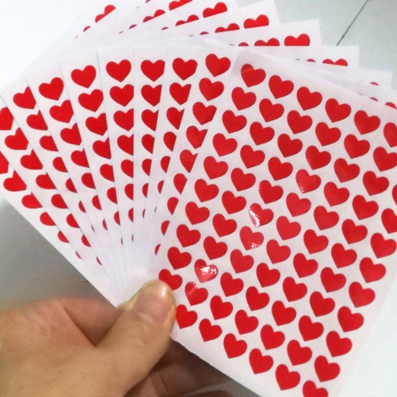 10Pcs Cute Color Heart Stickers Kawaii Star Expression Digital Decor Stationery Stickers Paper Adhesive For Kids Diary Supplies