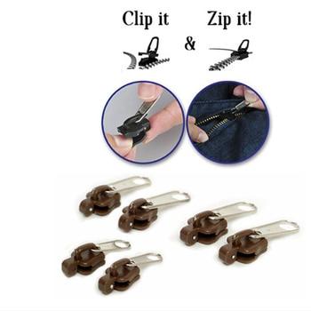 6 unids/set cremalleras negras multifunción, cremalleras para costura, reemplazo de reparación, cierre deslizante, rescate de dientes, envío gratis.
