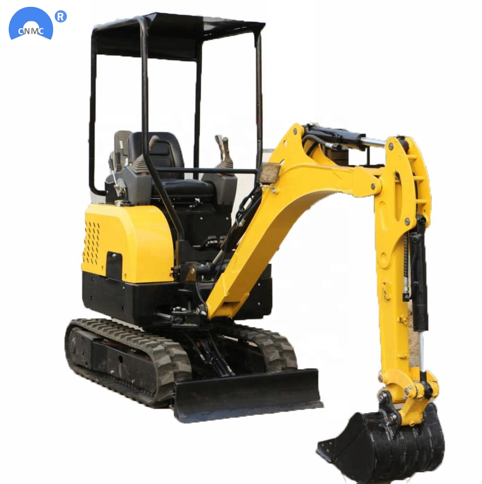 Mini Excavator 1ton Micro Small Digger With Rubber Track For Sale Garden Construction