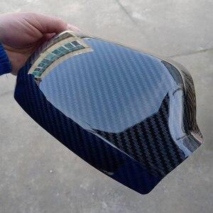 QDAEROHIVE углеродное волокно Боковые зеркала крышки хромированные дверные зеркальные крышки высокое качество автомобильный Стайлинг для Mazda 3 ...