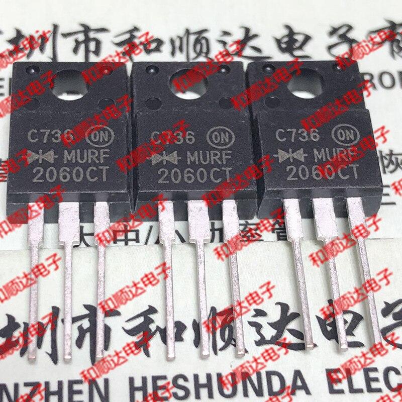 10pcs/lot MURF2060CT New Spot TO-220F 600V 20A