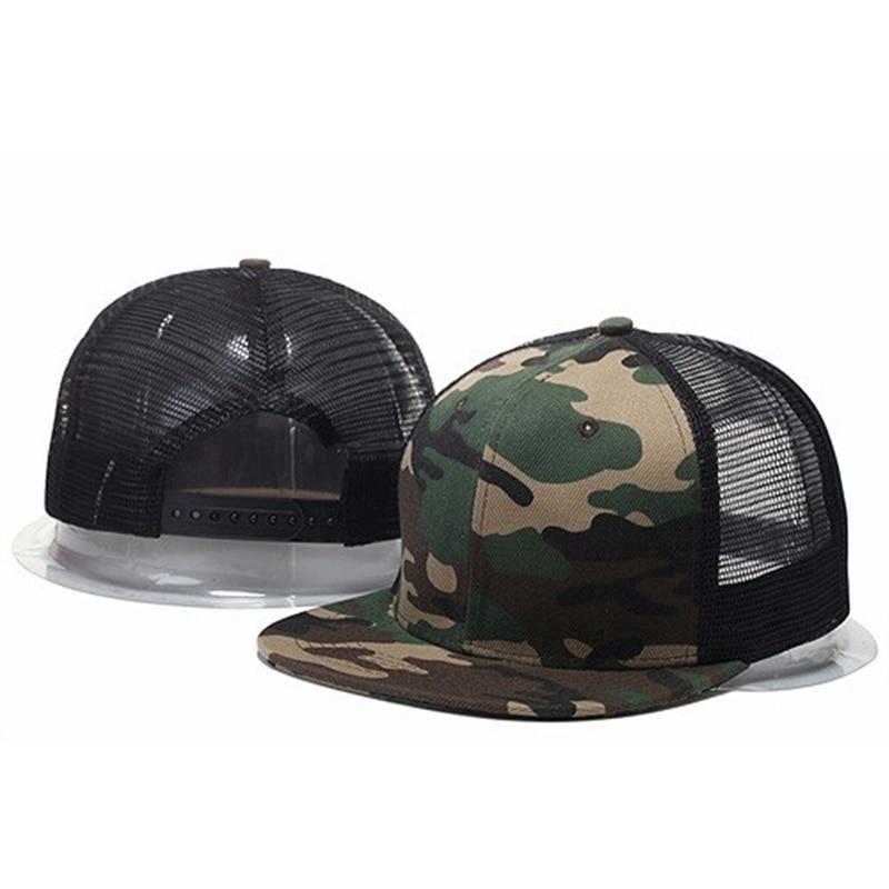 2019 New Styles Blank Mesh Camo Baseball Caps Black Hip Hop Hats Mens Women Casquettes Bboy Gorras Bones Snapback Solid Hat