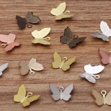 100 шт Подвески в виде бабочек 11x13 мм ювелирное изделие форме