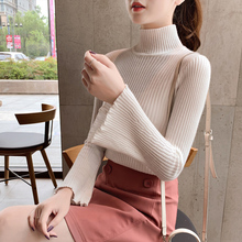 8 colors 2019 autumn and winter breif style solid color turtleneck warm sweaters pullovers womens